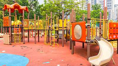 playground surfacing before