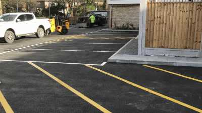 Line Marking for a New Tarmac Car Park